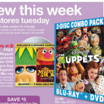 The Muppets Blu Ray+DVD and 6 episode sampler for $19.99!