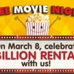 FREEBIE ALERT:  Free Redbox movie rental! (3/8 only)