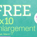 FREEBIE ALERT:  FREE 8X10 photo at Walgreens!