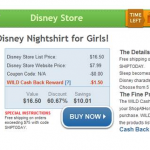 HOT DEAL ALERT:  Disney girls nightshirt only $6.49 after cash back!