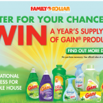 SWEEPS:  Win FREE Gain products for a year!