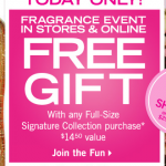 FREEBIE ALERT:  FREE Bath & Body Works full size product with purchase!