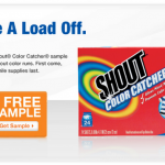 FREEBIE ALERT:  FREE Shout Color Catcher plus $1 off coupon!