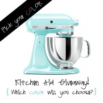 GIVEAWAY:  KitchenAid Mixer ($300 value!)