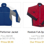 DEAL ALERT:  Reebok polos, jackets, and more as low as $7.99 shipped!