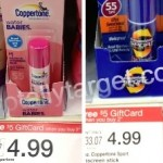 Coppertone Sunscreen only $1.49 each after coupons and gift card!