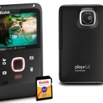 KODAK PLAYFULL Waterproof Video Camera in Black + case and SD card for $58.50!