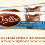 FREE Ovaltine Sample Packs!