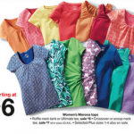 Women's Merona Shirts $3 each after coupon at Target!