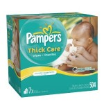Pampers Thick Care Unscented Wipes (504 ct) for $10.69 shipped!