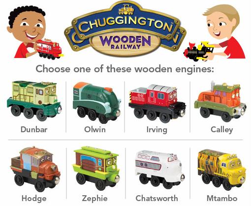 Free Chuggington Wooden Engine At Toys R Us Through 6 30