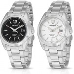 Seiko Classic Collection Kinetic Movement Stainless Steel Bracelet Men's Watch for $79.99!