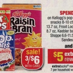 CVS:  Kellogg's cereal $.88 after coupons and ECBs! (starts 7/29)