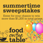 Food on the Table:  FREE menu planning plus win $1200 in prizes!