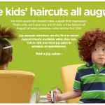 FREEBIE ALERT:  FREE Kids Haircut at JC Penney in August!