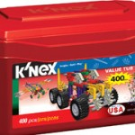 K'Nex Value Tub (400 pieces) only $12 (regularly $25)