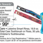 Listerine Kids Smart Rinse $.99 after coupons!