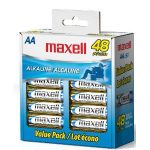 Maxell AA 48 ct batteries only $11.88 shipped!