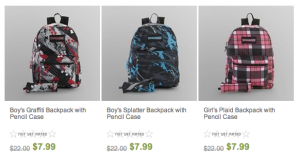 Sears sale on kid backpacks