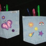 Back to School Craft: Denim Locker Pockets