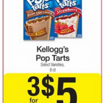 Kellogg's Pop Tarts as low as $1.33 per box!