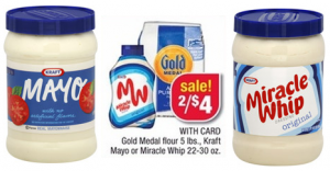 sale on Kraft Mayo or Miracle whip