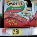 Motts Applesauce Snack & Go $1.50 per box after coupon!