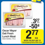 Oscar Mayer Deli Fresh Lunch Meat only $1.77 after coupon at Kroger!