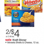 FREE Velveeta Shells & Cheese and Kraft Deluxe Macaroni and Cheese!