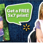 Walmart:  FREE 5X7 photo print!