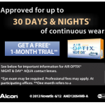 FREE One Month Trial of Contacts!
