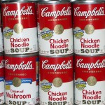 Campbell's chicken noodle and tomato soups only $.45 per can!
