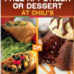 FREE Chili's Appetizer or Dessert!