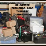 De-Clutter Challenge:  1,000 Things by Thanksgiving!
