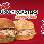 FREE Arby's Turkey Roasters Sandwich today only!