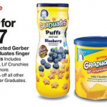 Gerber Graduates on Sale At Target this week + Coupon Matchups!