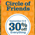 Gymboree:  Circle of Friends 30% off sale + 125 Gymboree Rewards points!