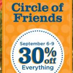 Gymboree:  Circle of Friends 30% off sale + 125 Gymboree Rewards points!