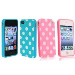 iPhone 4 or 4s Pink or Blue Polka Dot cases for $1.04 shipped!
