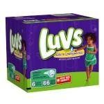 Luvs Diapers as low as $.10 per diaper shipped!