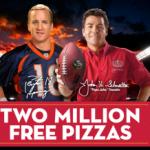 Papa John's Pizza:  win FREE Pizza!