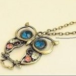 Vintage Owl Charm Necklace only $1.26 shipped plus more jewelry deals under $2!