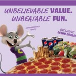 Chuck E Cheese:  10 FREE Tokens plus FREE MP3 Download!