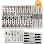 Wilmington Plus 18/0 Stainless Steel 55-Piece Flatware Set + Bonus Steak Knives & Hostess Set for $24.98 shipped!