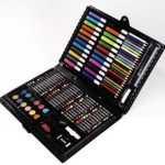 Darice Deluxe 120-piece art set only $7.88!