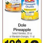 Dole Canned Fruit $.67 each after coupon!