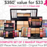 e.l.f. Cosmetics sale:  251 pieces for $33 (3 hrs only)