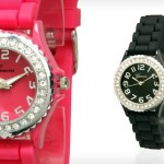 Geneva Women's Crystal Silicone Watch for $8 shipped!