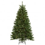 Holiday Living 6-1/2-ft Spruce Pre-lit Artificial Christmas Tree for $48 (50% off)