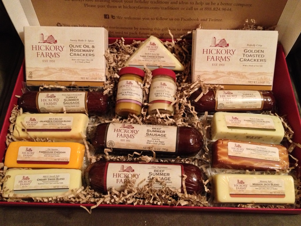 hickory farms home for the holidays gift box giveaway entry